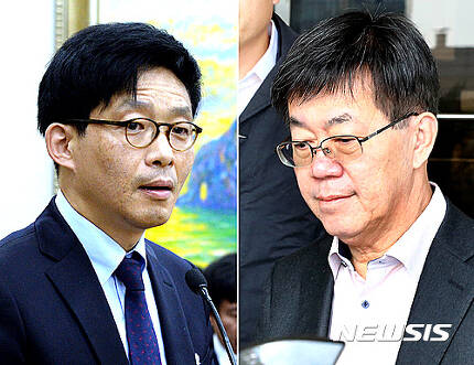 안태근 법무부 검찰국장(왼쪽)과 이영렬 서울중앙지검장