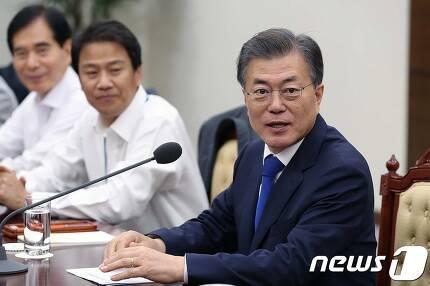 (청와대 제공) 2017.8.14/뉴스1 © News1