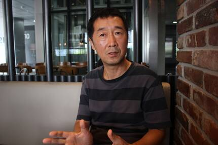 ▲ 이우환 MBC PD가 지난 18일 서울 상암동 MBC 사옥 인근 카페에서 미디어오늘과 인터뷰를 하고 있다. 사진=김도연 기자