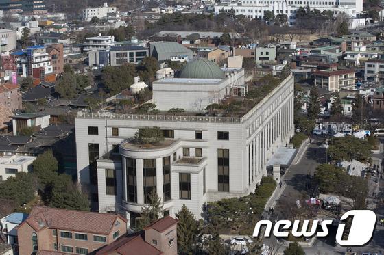 헌법재판소 전경. 2017.3.10/뉴스1 © News1 사진공동취재단