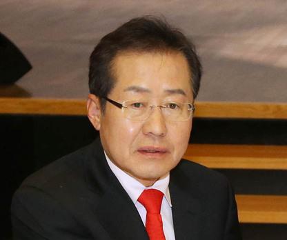 홍준표 자유한국당 후보. 한겨레 자료사진