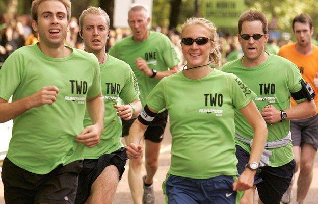 영국 여자 마라톤의 자부심 폴라 래드클리프는 임신 기간에도 10㎞ 정도는 거뜬히 달렸다.BBC 홈페이지 캡처