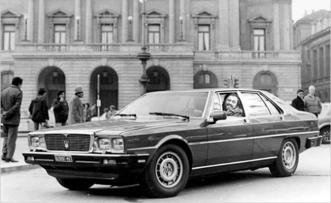 루치아노 파바로티와 그의 3500GT (이미지 : Maserati)
