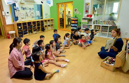 ⓒ시사IN 조남진 한양제일유치원 수업 모습.