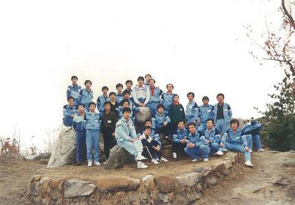 1980년대 삼미특수강 노조간부들이 찍은 단체 사진. [사진 노재우씨 제공]