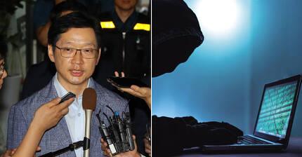 김경수 경남지사(왼쪽). 오른쪽 사진은 댓글조작 가상 이미지. [연합뉴스ㆍ중앙포토]