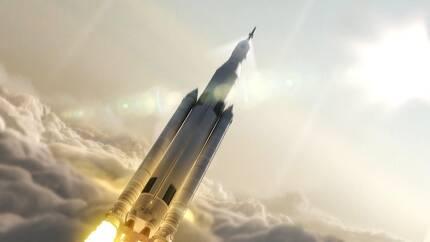 미항공우주국(NASA)이 개발 중인 SLS 모식도./ NASA 제공.