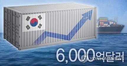 수출 6천억달러 돌파 (PG) [정연주 제작] 사진합성·일러스트