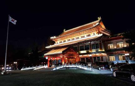 중국 베이징 '조어대' 야경