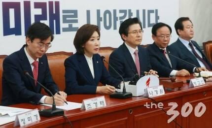 나경원 자유한국당 원내대표(왼쪽에서 두번째) /사진=이동훈 기자