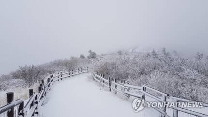 눈 내리는 설악산 2019.4.26 [설악산사무소 제공] momo@yna.co.kr