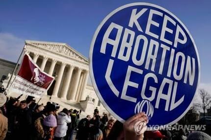 지난 1월 워싱턴에서 열린 낙태 합법화 찬성 시위[로이터=연합뉴스]