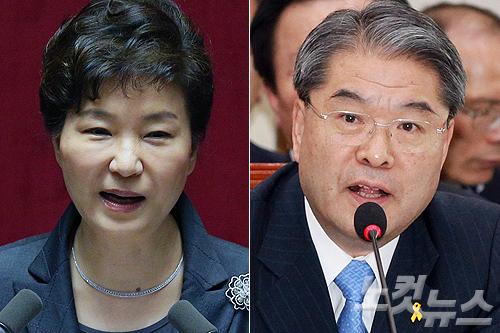 박근혜 대통령(왼쪽)과 이재정 경기도교육감 (사진=자료사진)