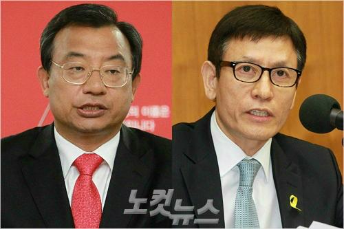 이정현 전 청와대 홍보수석과 김시곤 전 KBS 보도국장. (사진=자료사진)