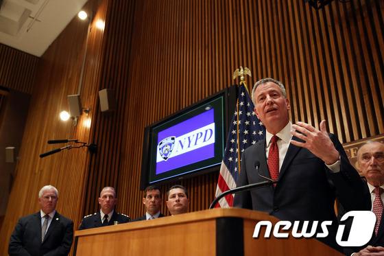 빌 드 블라지오 미국 뉴욕시장. © AFP=뉴스1