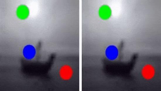 왼쪽은 실제 움직임을 시뮬레이션한 결과이며 오른쪽은 RN을 적용한 인공신경망이 예측한 움직임.(사진=딥마인드 논문)