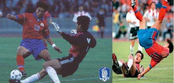 1998 프랑스 월드컵 출정식 중국전에서 부상을 당한 황선홍 현 FC서울 감독. 대한축구협회 제공