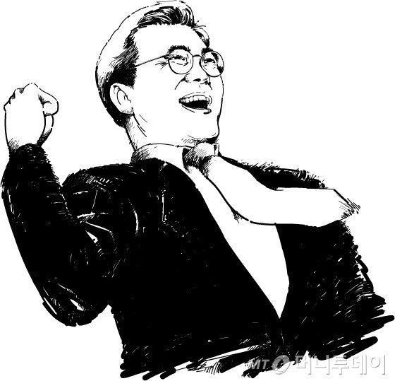 문재인 대통령 삽화. /사진=임종철 디자이너