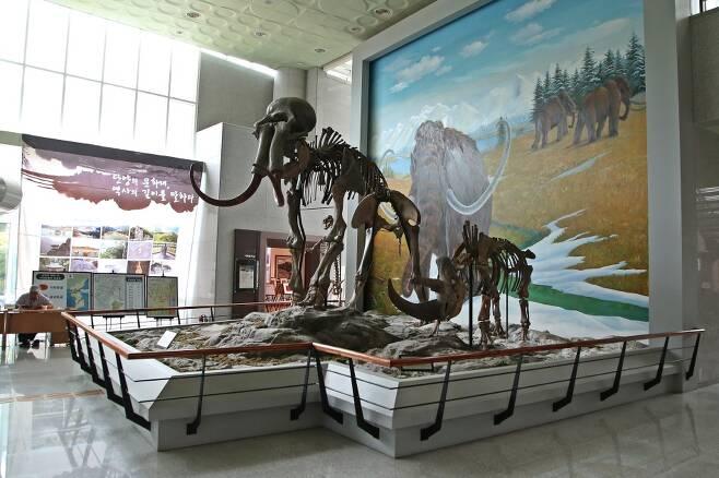 수양개 지역에서 출토된 구석기시대 유물을 볼 수 있는 수양개선사유물전시관