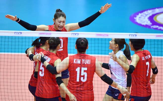 ▲ 한국 여자 배구 대표 팀 ⓒ AVC 제공