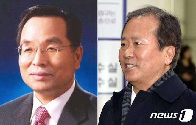 김창록 전 산업은행 총재(좌), 신상훈 전 신한금융지주 사장(우) © News1