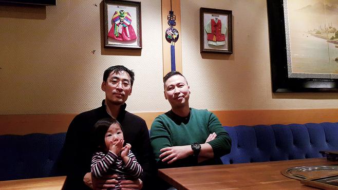 스웨덴 한인입양인협회 회장을 역임한 다니엘 리(오른쪽)와 마틴 손© 이석원 제공