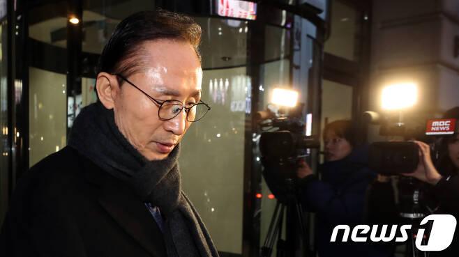 이명박 전 대통령. 2018.2.19/뉴스1 © News1 황기선 기자