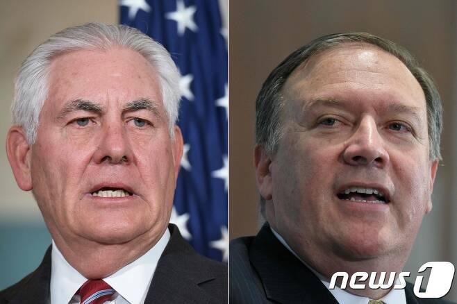 렉스 틸러슨 미 국무장관(왼쪽)과 마이크 폼페오 중앙정보국(CIA) 국장. / AFP