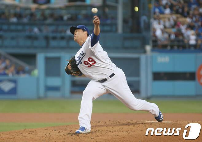 류현진(31·LA 다저스). © AFP=News1