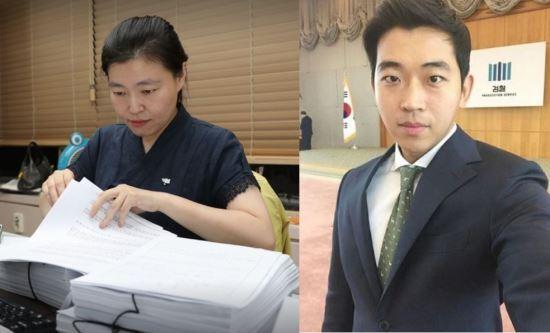 사진=페이스북 캡처. (좌) 임은정 검사 (우)고 김홍영 검사