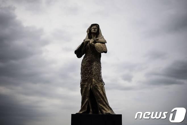 필리핀 마닐라에 설치됐던 위안부 동상.  © AFP=뉴스1