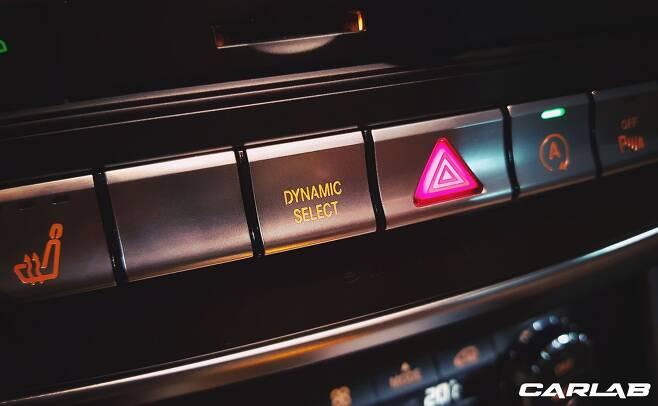 '다이내믹 셀렉트' 버튼을 통해 주행모드를 바꿀 수 있다