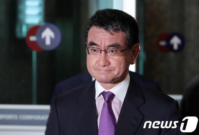 고노 다로 일본 외무상. 2018.4.10/뉴스1 © News1 구윤성 기자