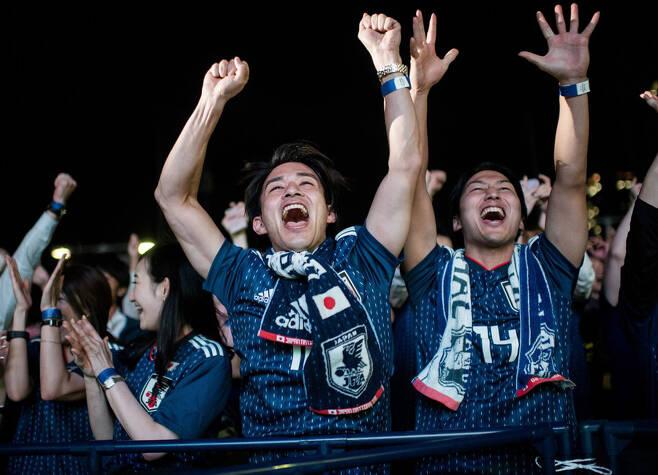 ▲ 일본은 축제 분위기 ⓒAFC