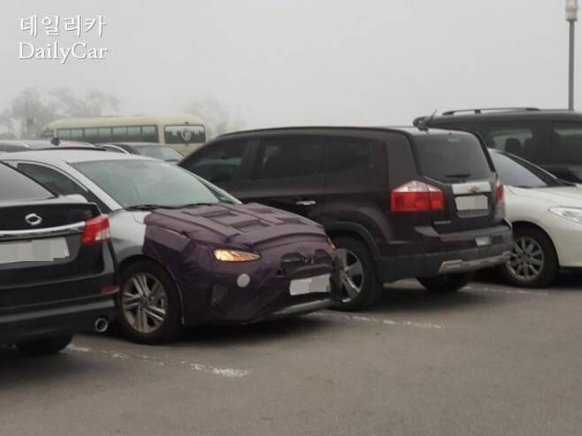 신형 아반떼 시험주행 차량(사진: 박홍준 기자)