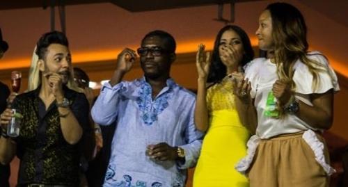 2015년 리우 카니발 축제에 참석한 테오도로 은게마 오비앙 망게 적도기니 부통령 [브라질 뉴스포털 UOL]