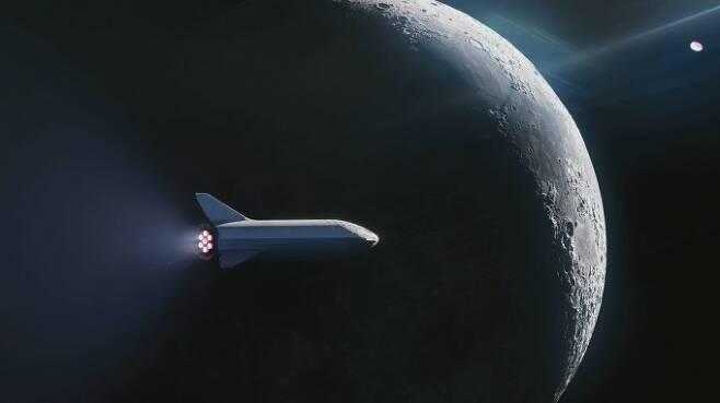 스페이스X는 차세대 초대형 재사용 로켓 '빅 팰컨 헤비로켓(BFR)'을 이용해 세계 최초로 민간인을 달에 보내는 우주여행 계획을 추진한다. - 스페이스X