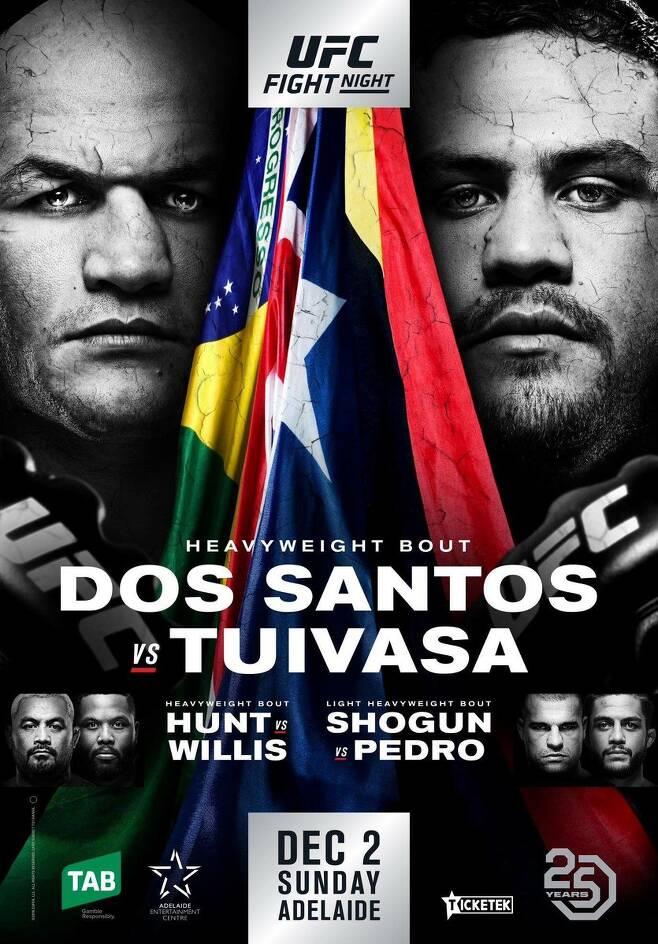 ▲ 오는 12월 3일 호주 아들레이드에서 열리는 UFC 파이트 나이트 142 공식 포스터.