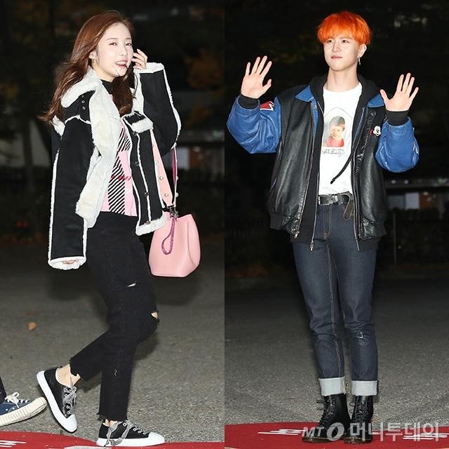 그룹 에이프릴 채경(왼쪽)과 가수 김동한 /사진=뉴스1