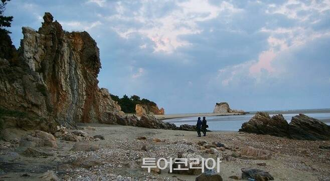 ▲ 농여해변 나이테 바위