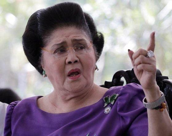 최근 부패 혐의로 77년형을 선고 받은 필리핀의 전 영부인 이멜다 마르코스. [EPA=연합뉴스]