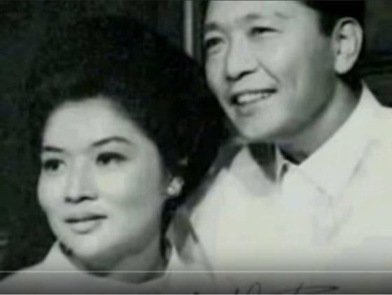 마르코스 필리핀 전 대통령 부부. [사진 영화 '이멜다' 캡처]