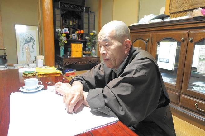 다이린지(大林寺)의 사이토 다이켄(藤泰彦) 주지스님 ⓒ 이인자 제공