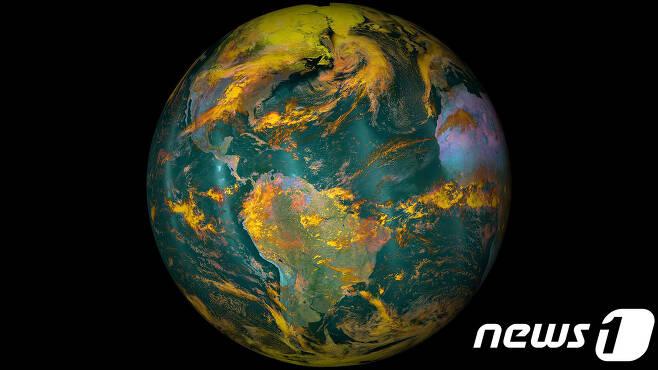 미국 항공우주국(NASA)이 공개한 지구 위성 사진. © AFP=뉴스1