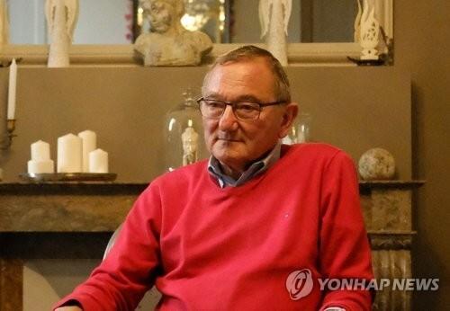 재불 독립운동가 홍재하의 차남 장자크 홍 푸안 씨 [연합뉴스 자료사진]