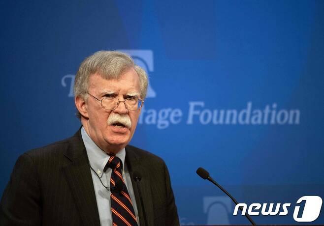 존 볼턴 백악관 국가안보보좌관. © AFP=뉴스1
