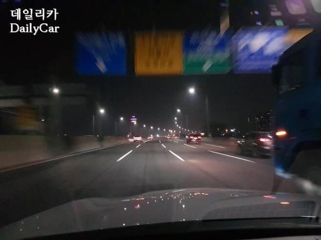서울을 벗어날 수록, 교통 흐름은 점차 좋아졌다.