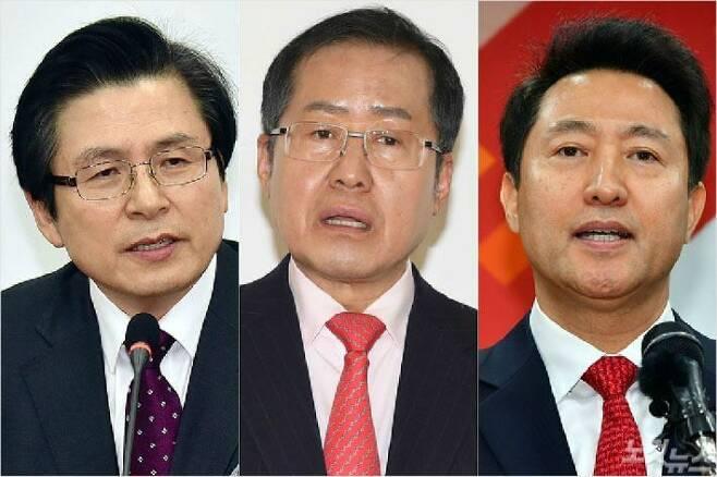 (왼쪽부터) 황교안 전 총리, 홍준표 전 자유한국당 대표, 오세훈 전 서울시장 (사진=자료사진)