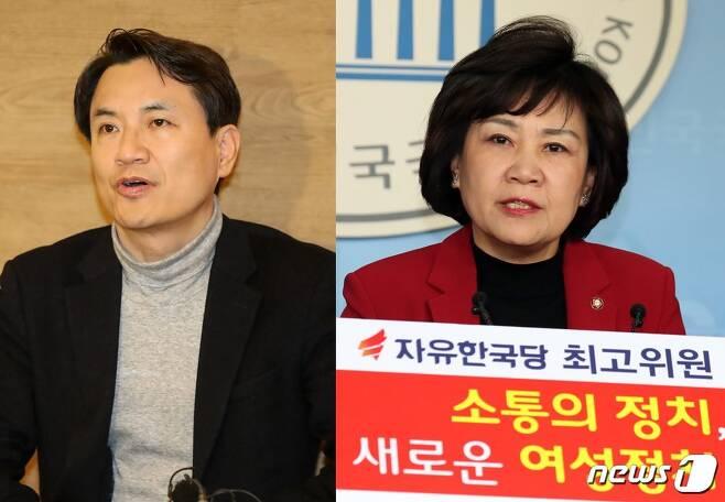 김진태 자유한국당 의원(왼쪽)과 김순례 의원. © 뉴스1