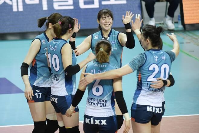 ▲ GS칼텍스 선수들 ⓒ KOVO 제공